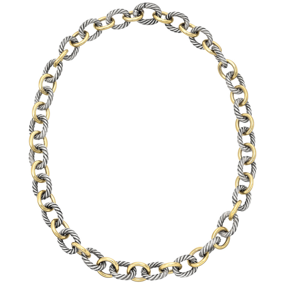 David Yurman Gold Silver Link Necklace Betteridge