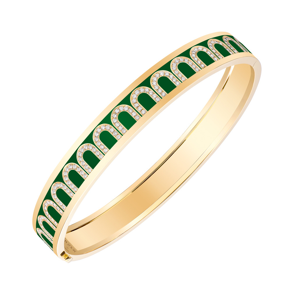 "18k Yellow Gold, Diamond & Palais Royal Lacquer ""L'Arc"" Bangle"