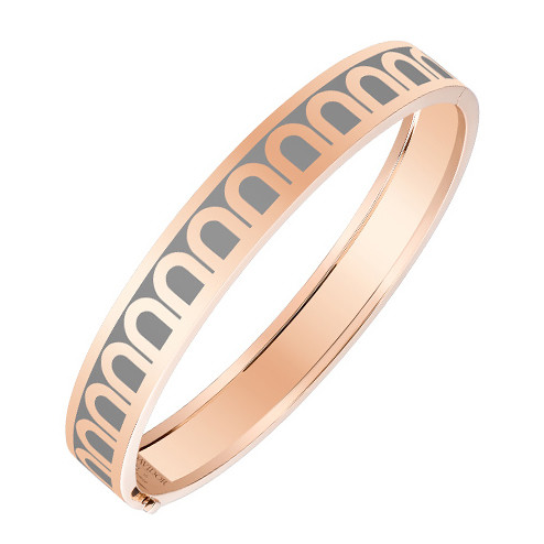 "Medium 18k Rose Gold & Anthracite Gray Lacquer ""L'Arc"" Bangle"