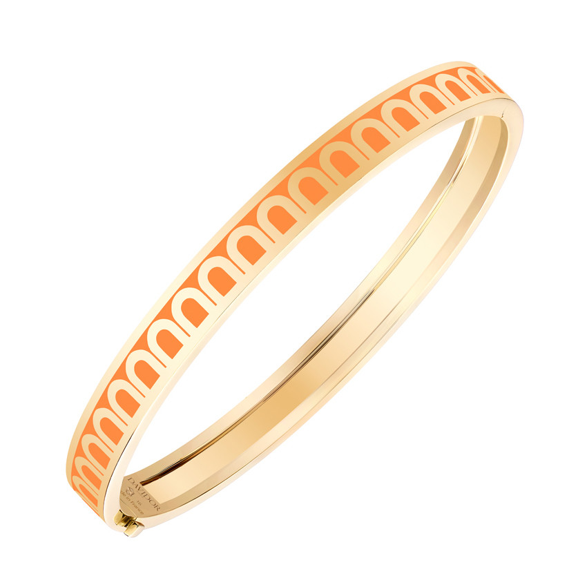 "18k Yellow Gold & Zeste Lacquer ""L'Arc"" Thin Bangle"