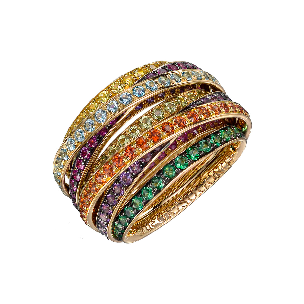 "Multicolored Gemstone ""Allegra"" Ring"