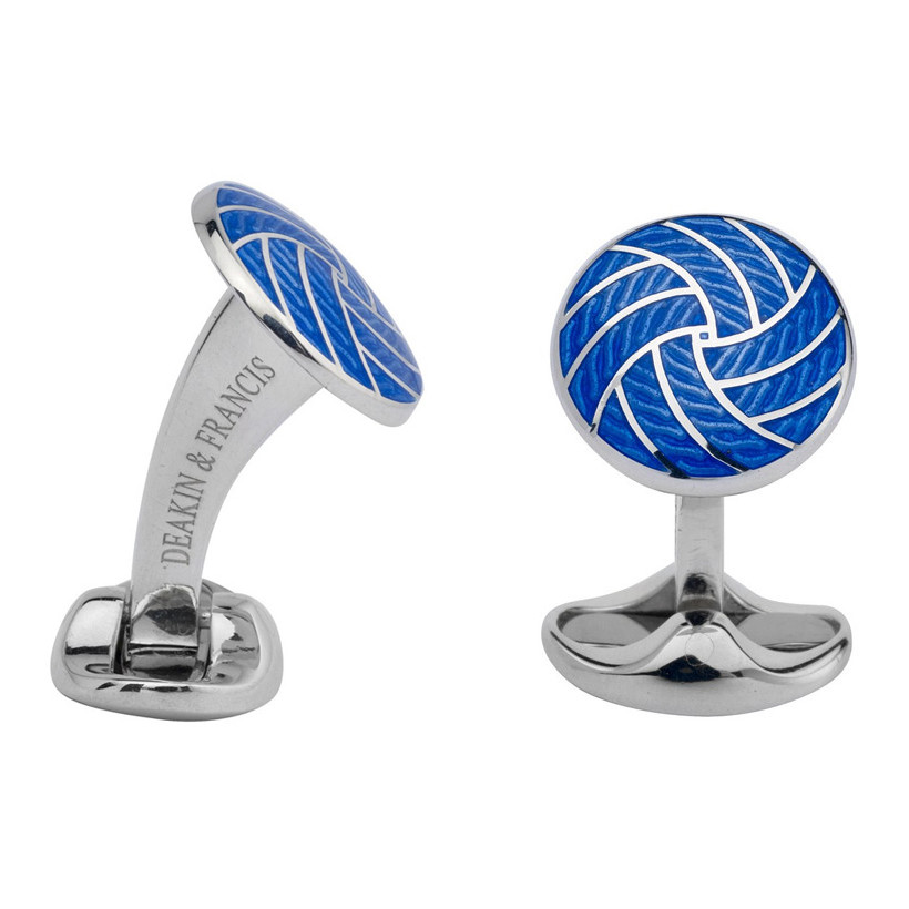 Royal Blue Enamel Silver Cufflinks