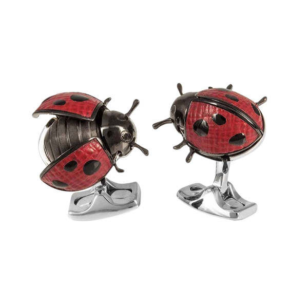 Moving Ladybug Cufflinks