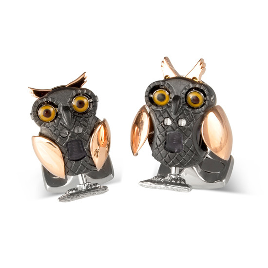 Silver Moving Owl Cufflinks