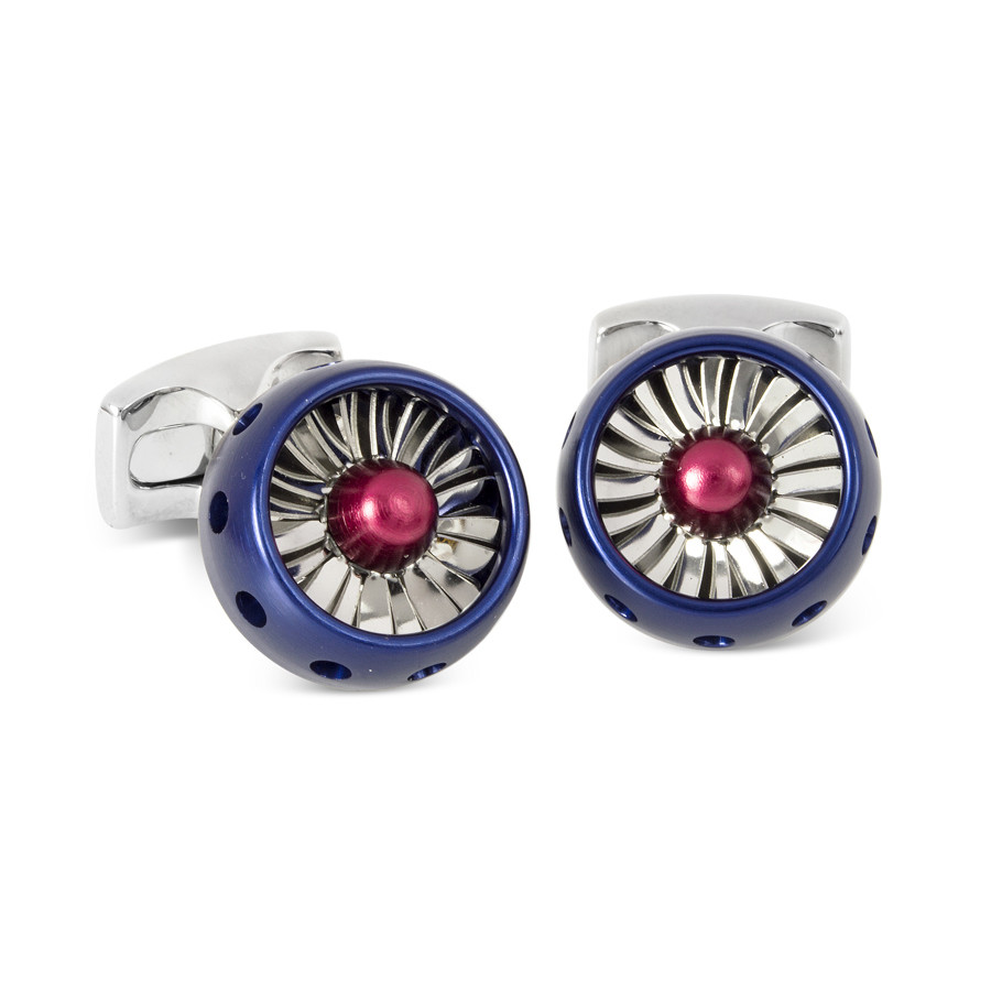 Aluminum RAF Jet Turbine Engine Cufflinks
