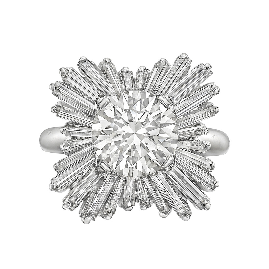 2.52ct Round Brilliant Diamond 'Ballerina' Ring