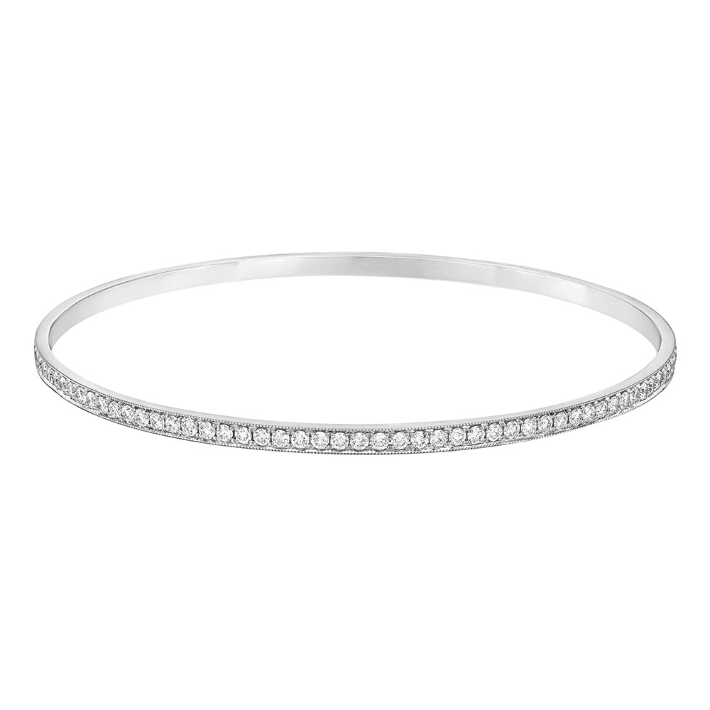 18k White Gold & Diamond Bangle (2ct tw)