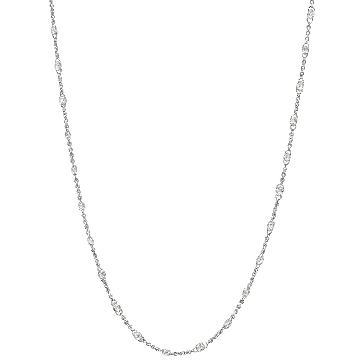 Briolette-Cut Diamond Chain Necklace (3.38ct tw)