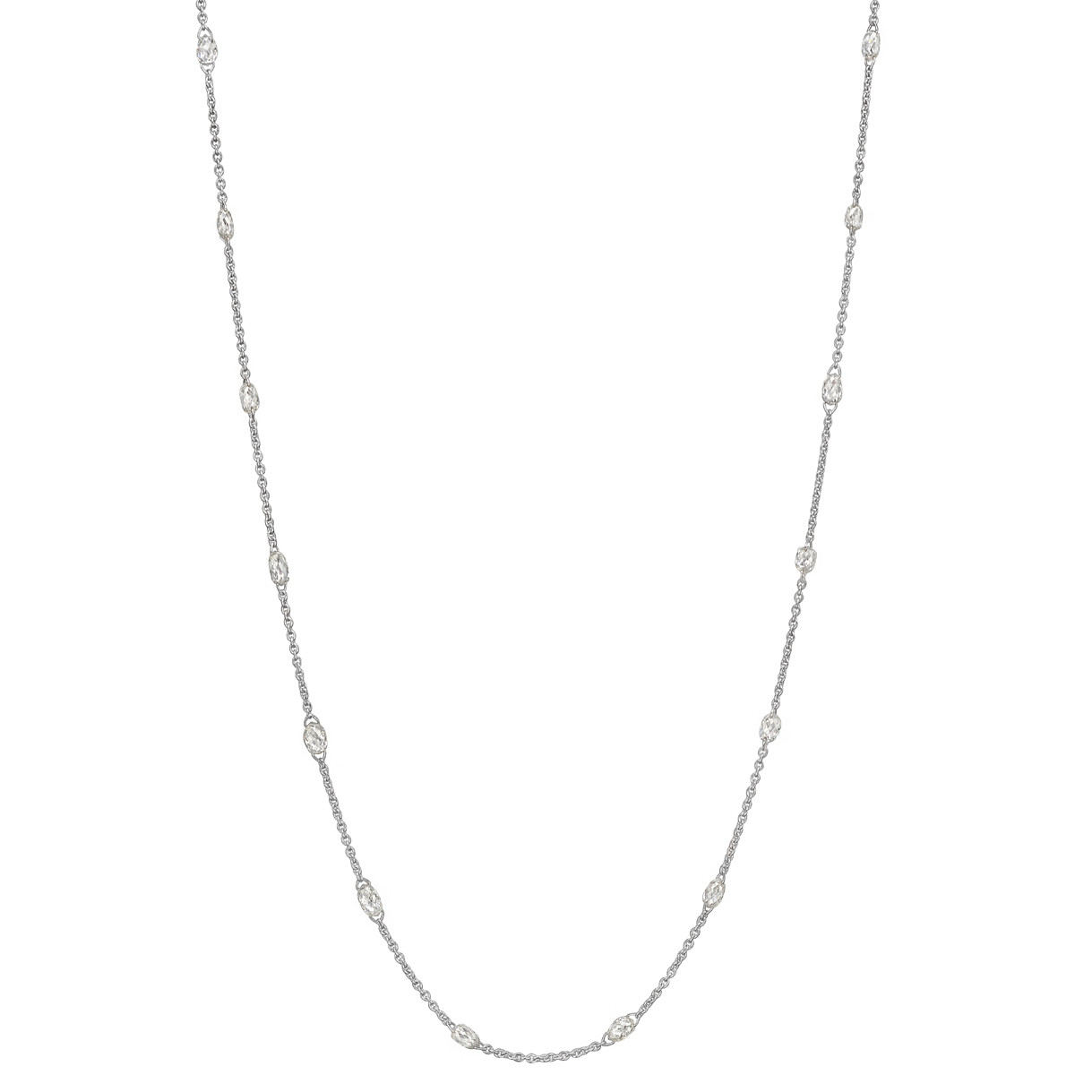 Briolette-Cut Diamond Chain Necklace (3.58 ct tw)
