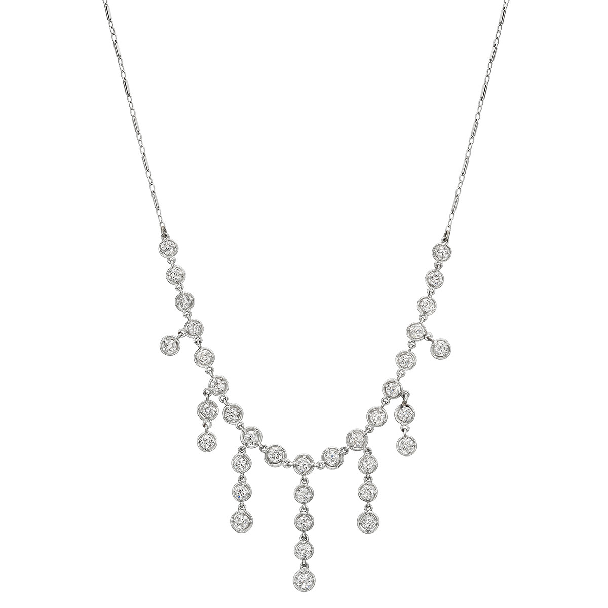 Diamond Chain Fringe Necklace (~5.2 ct tw)