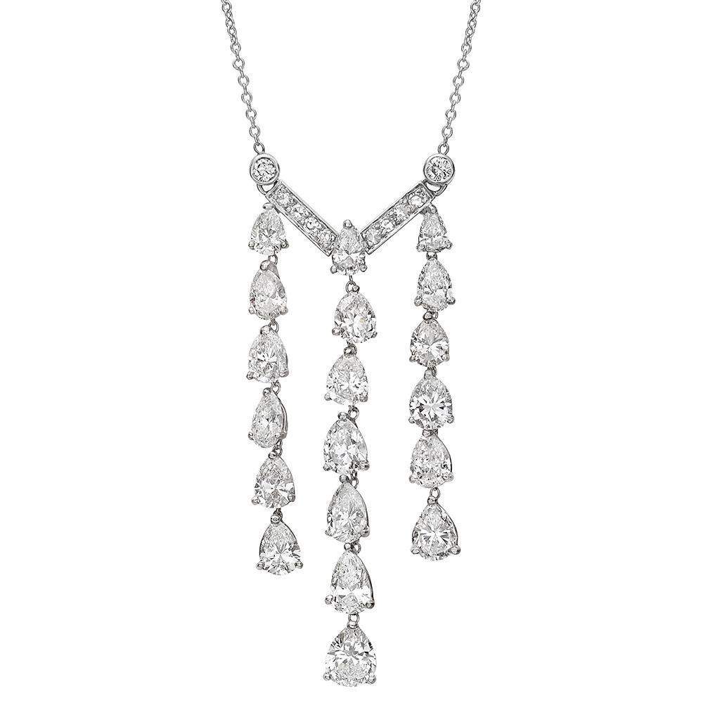 Diamond Chain Fringe Pendant