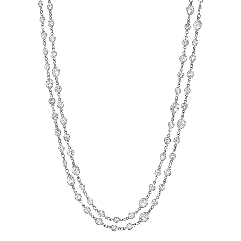 long necklace extra diamond an