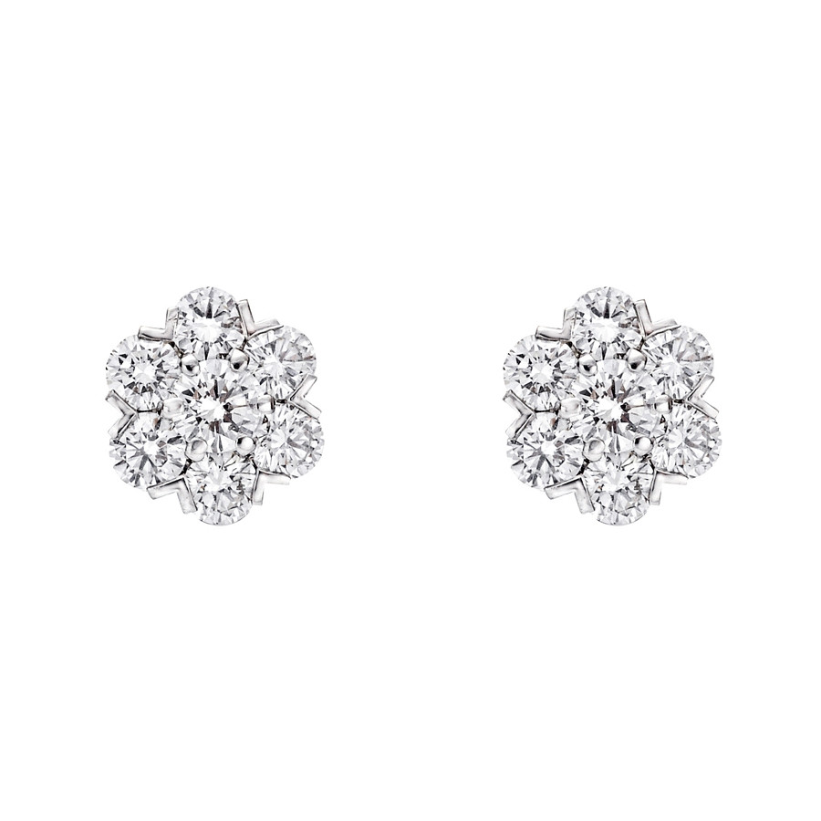 Medium Diamond Cluster Earstuds (~2 ct tw)