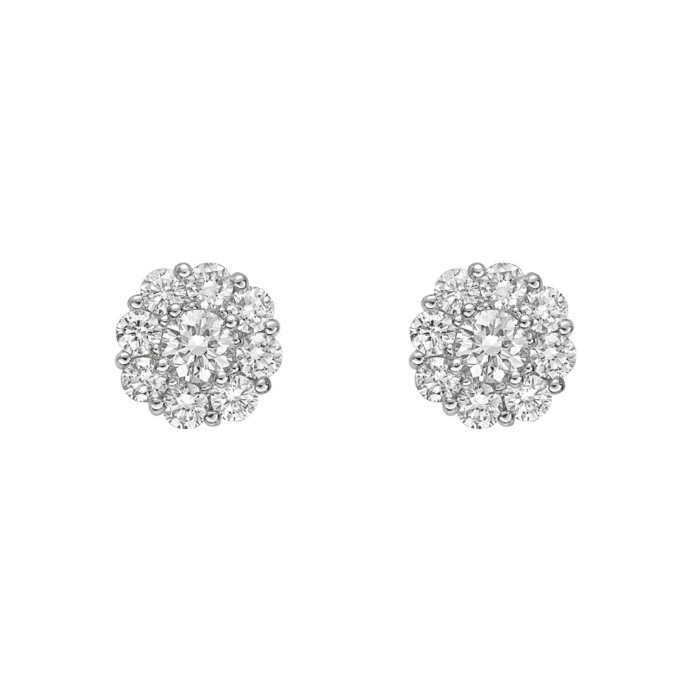 Small Diamond Cluster Earstuds (1ct tw)