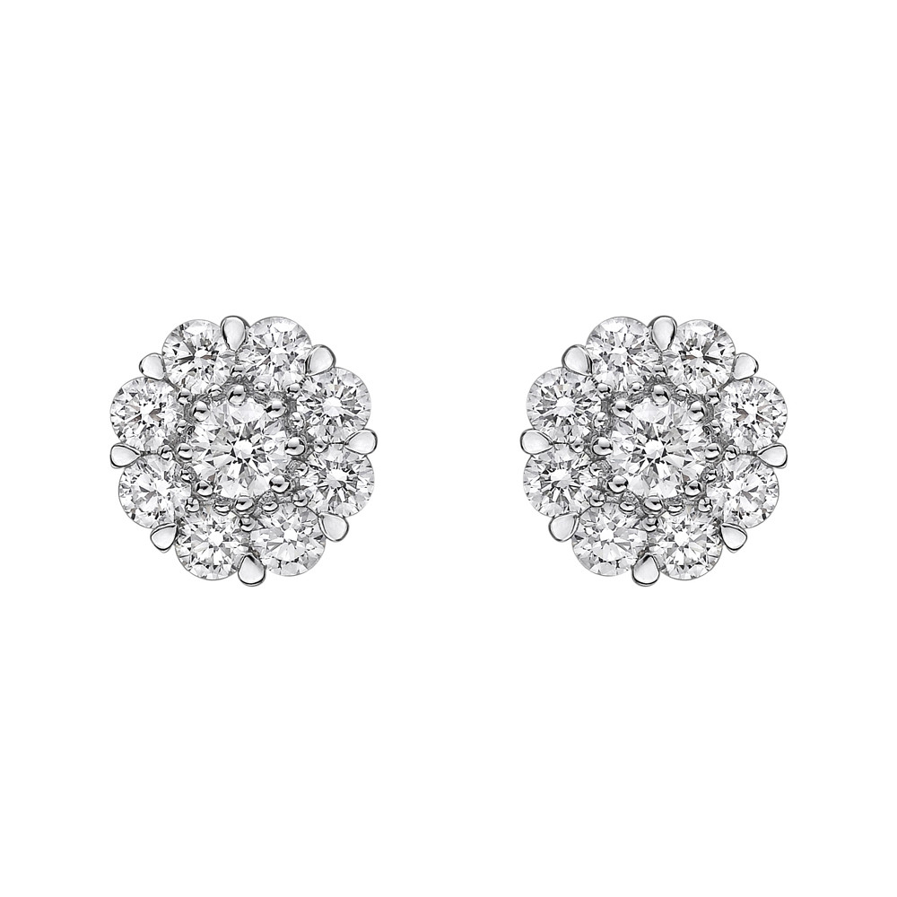 Diamond Cluster Earstuds (2ct tw)