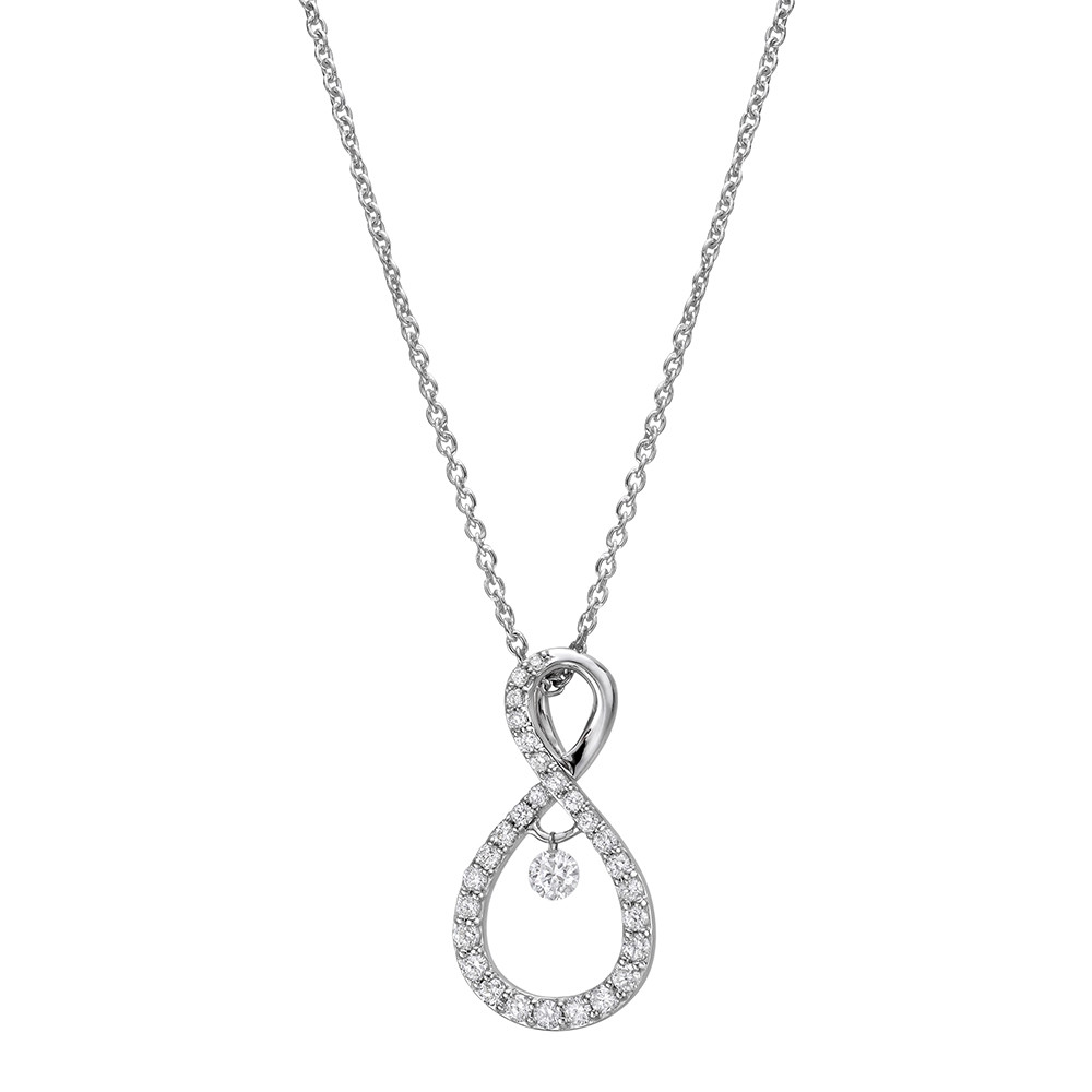 Diamond Figure-8 Pendant