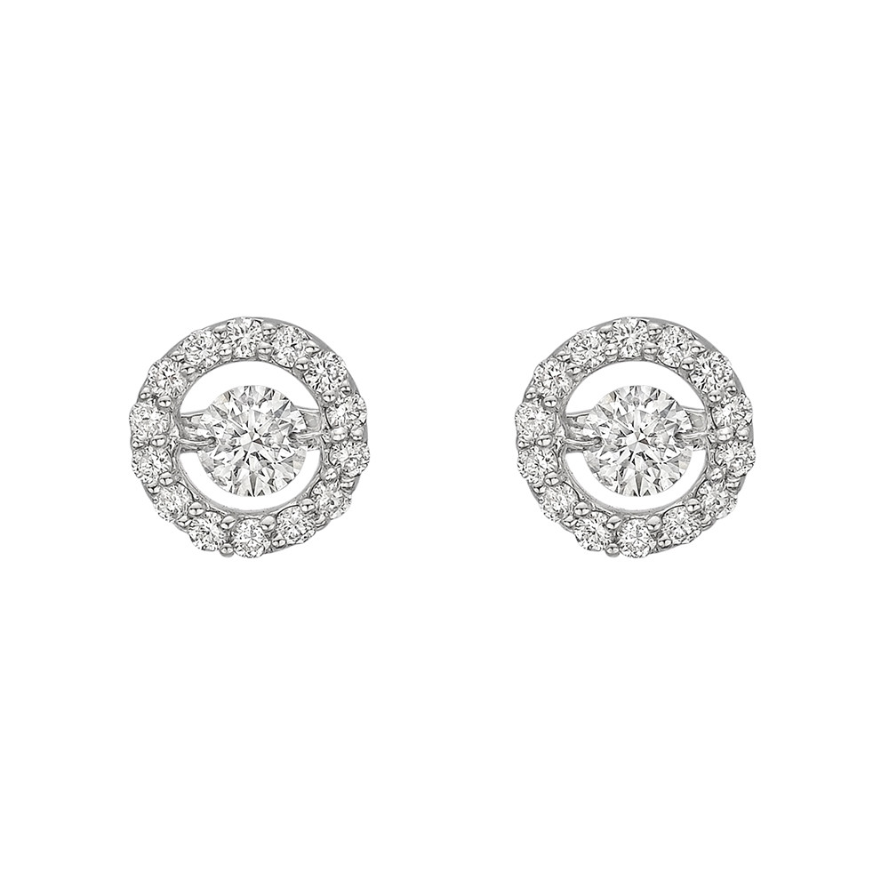 "Small Diamond ""Halo"" Earstuds"