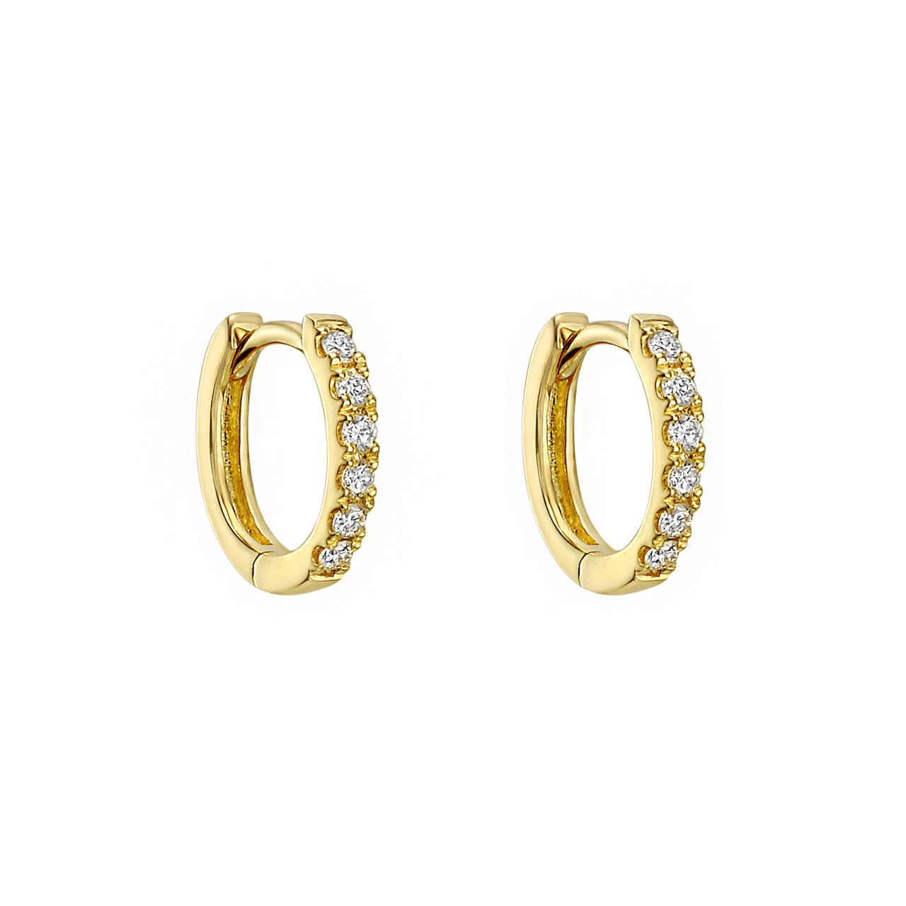 Mini Diamond Hoop Earrings (0.10ct tw)