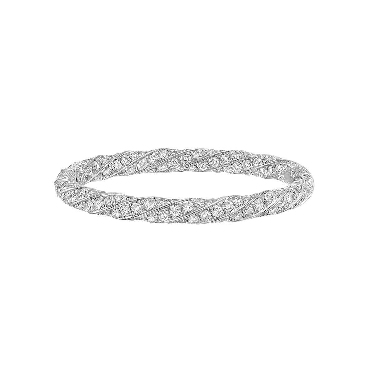Diamond Twist Eternity Band (0.82ct tw)