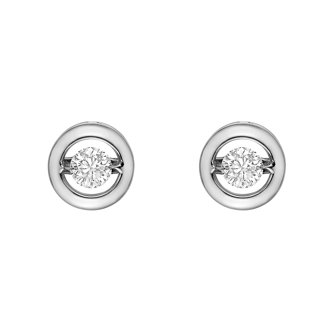 "18k White Gold & Diamond ""Halo"" Earstuds"