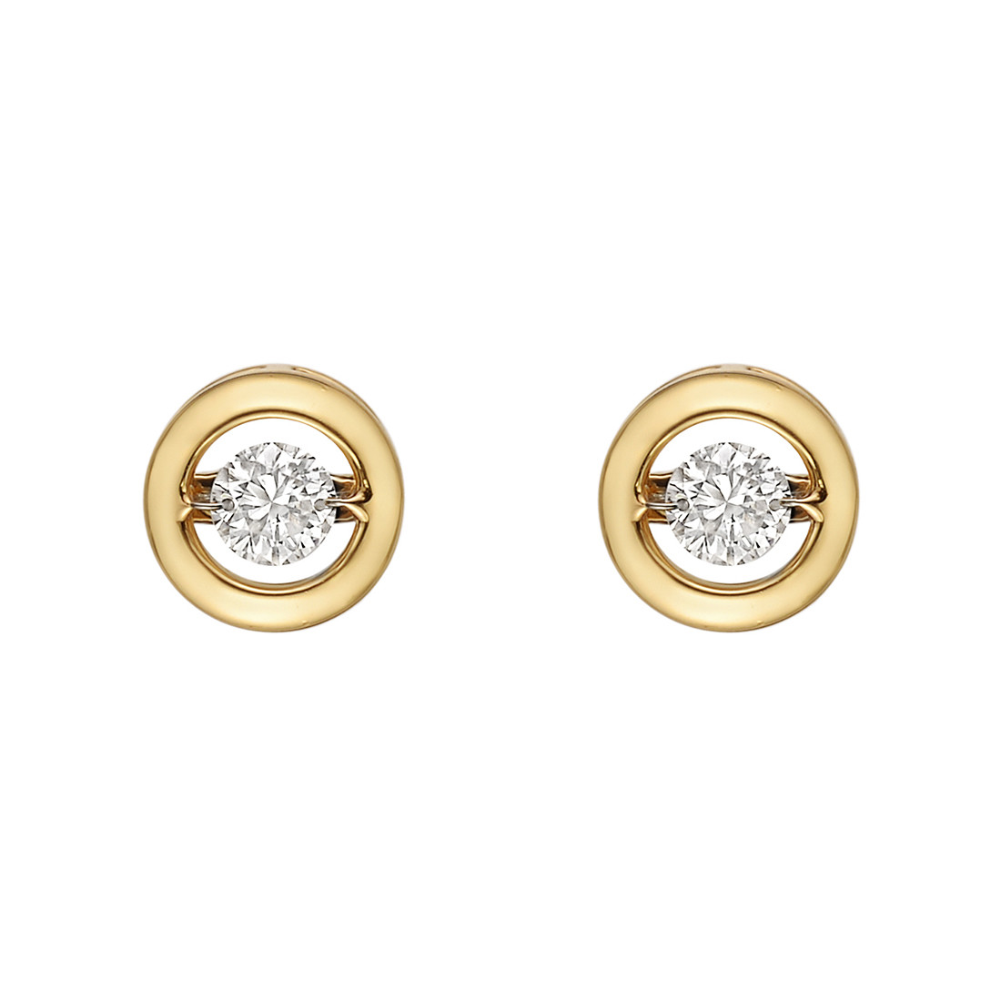 "18k Yellow Gold & Diamond ""Halo"" Earstuds"