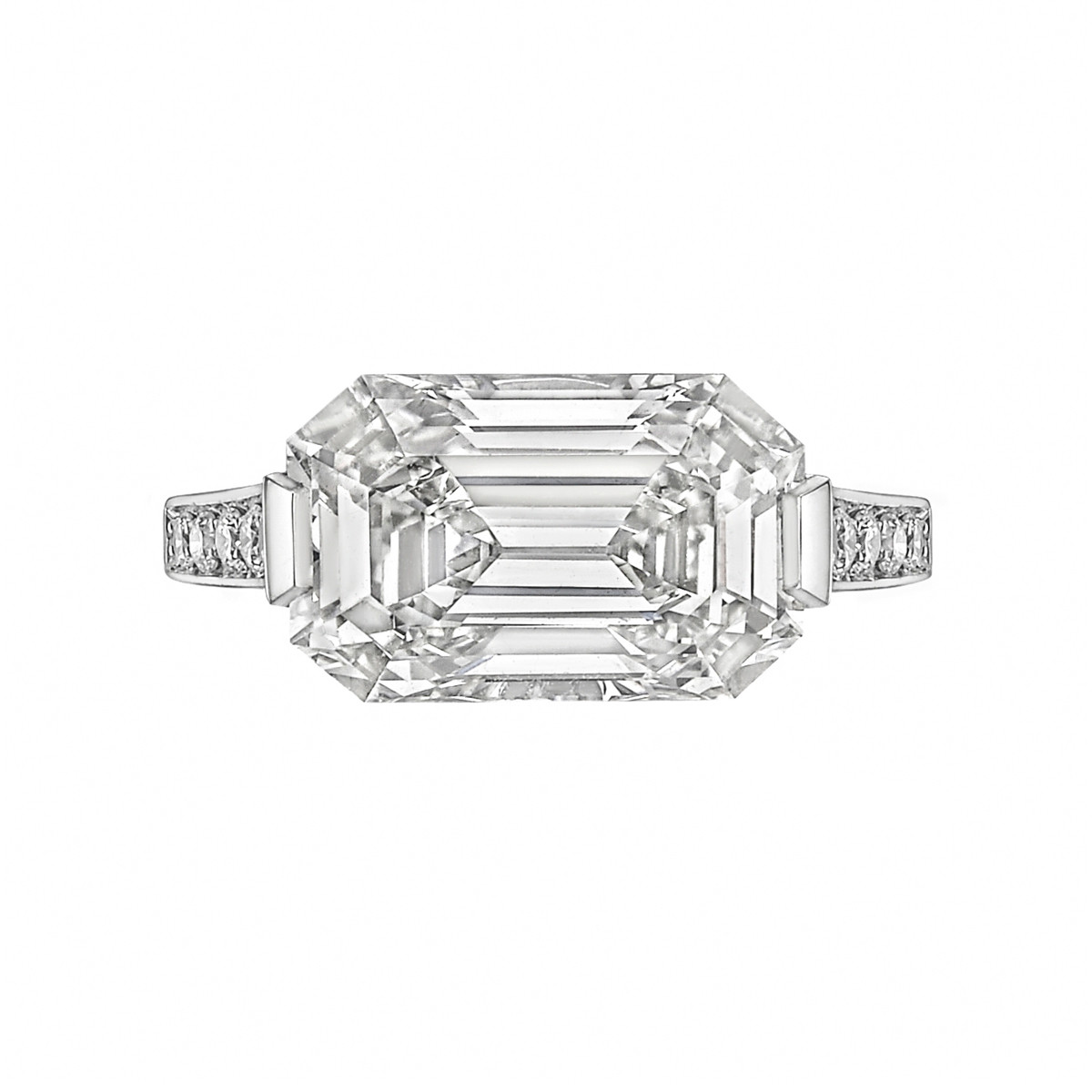 5.15 Carat Emerald-Cut Diamond Ring