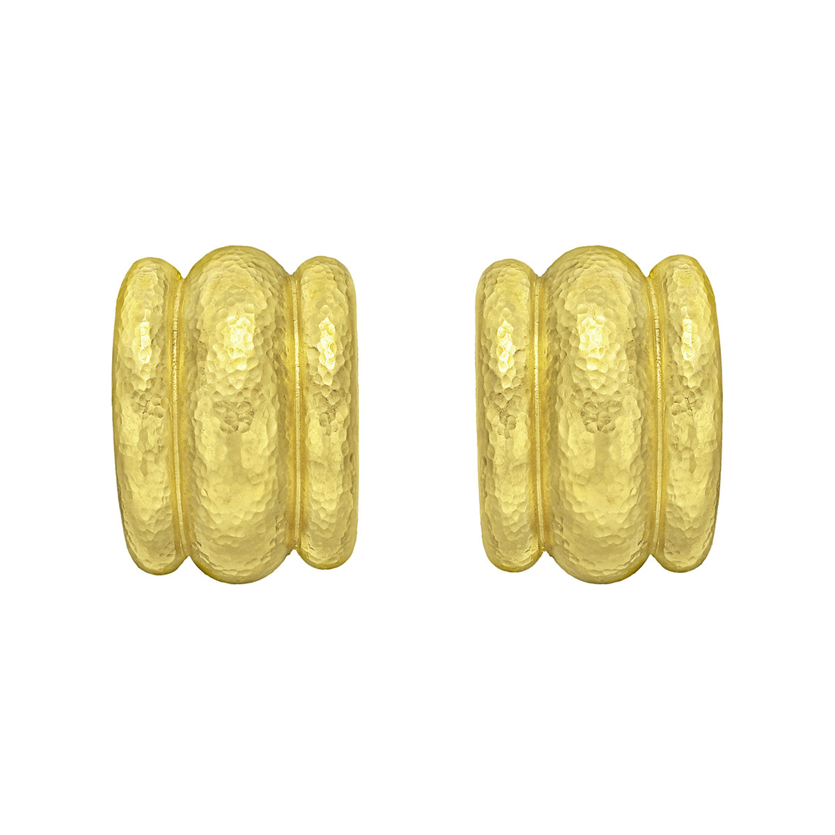 "19k Yellow Gold ""Amalfi"" Hoop Earrings"
