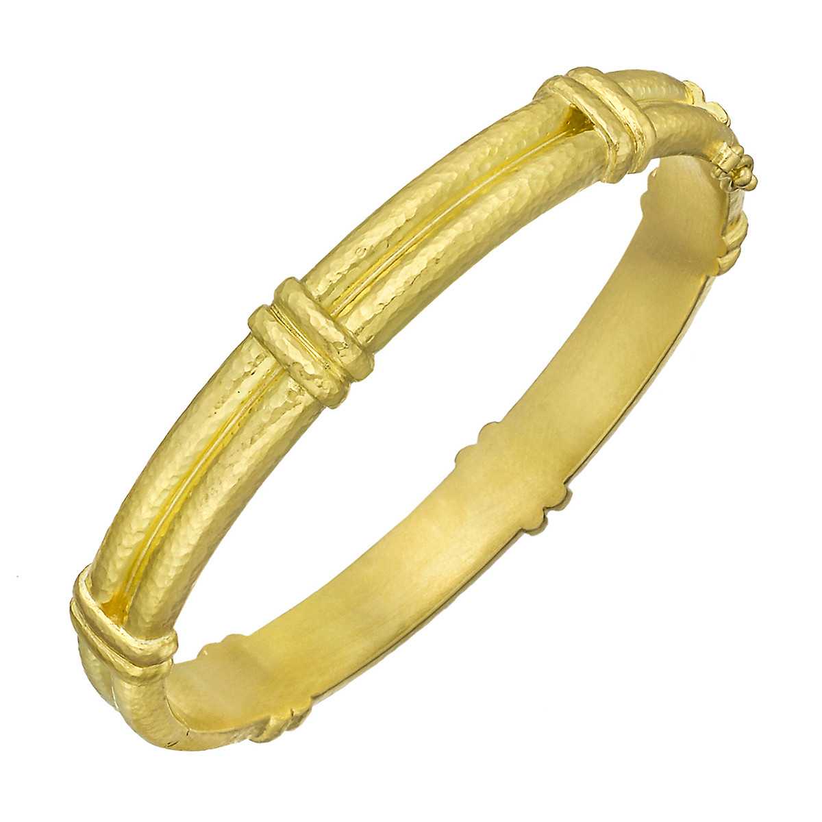 19k Yellow Gold Double-Banded Bangle