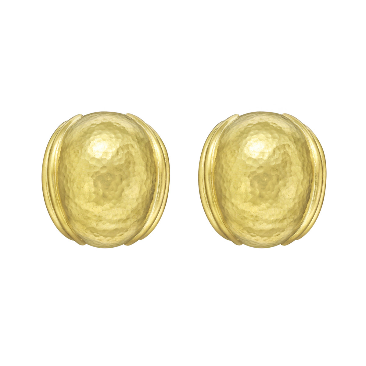 "19k Yellow Gold ""Puff"" Earrings"
