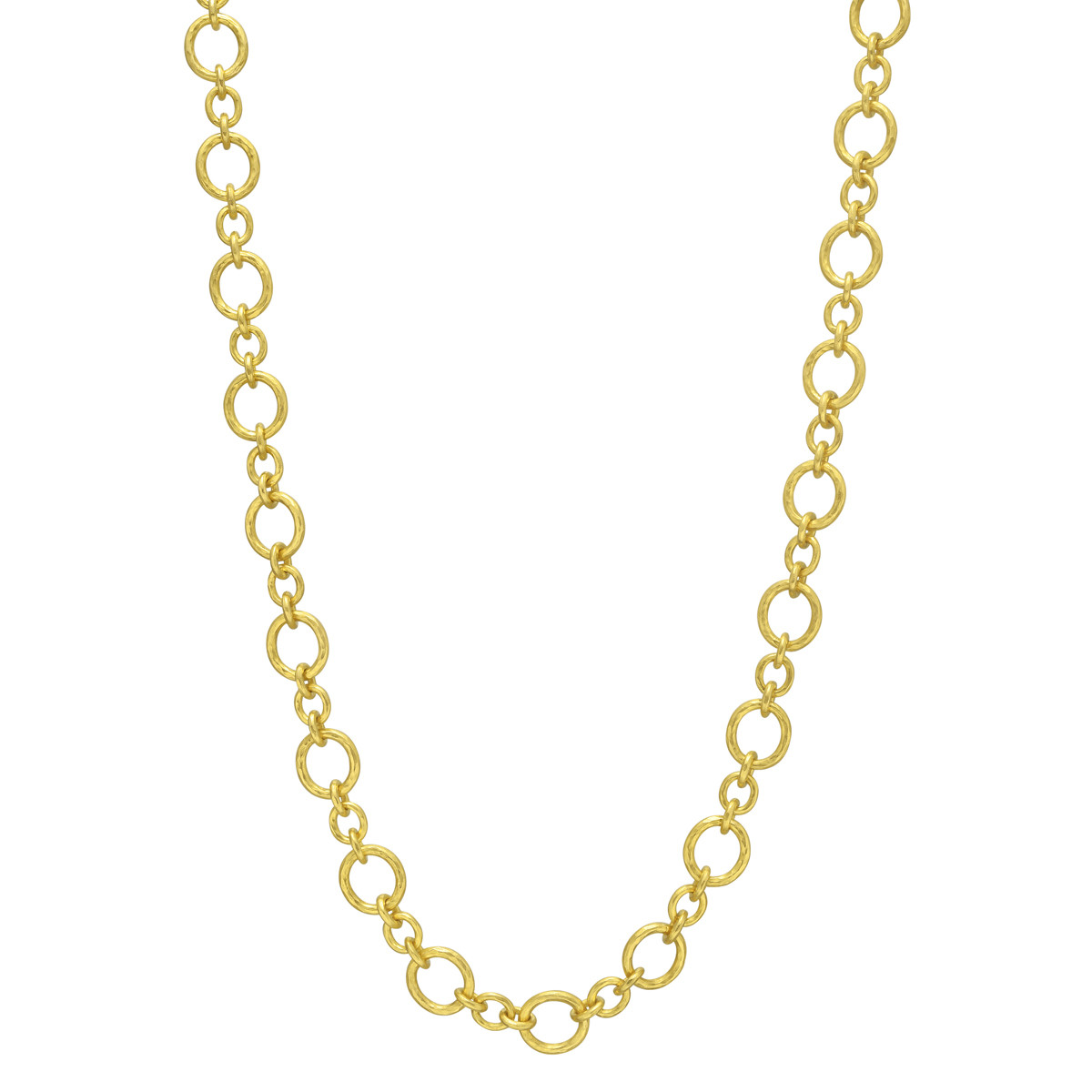 "19k Yellow Gold ""Riviera"" Link Long Necklace"
