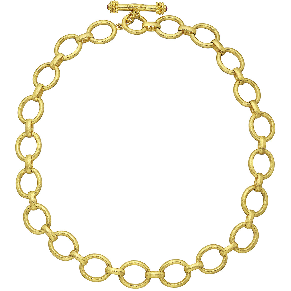 19k Yellow Gold Oval Link Necklace