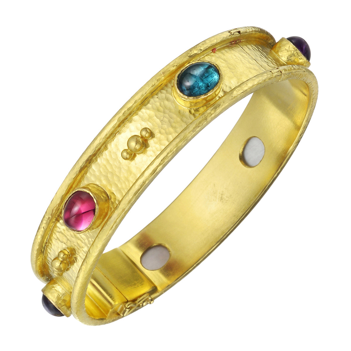 "19k Yellow Gold & Gemstone ""Tutti Frutti"" Bangle"