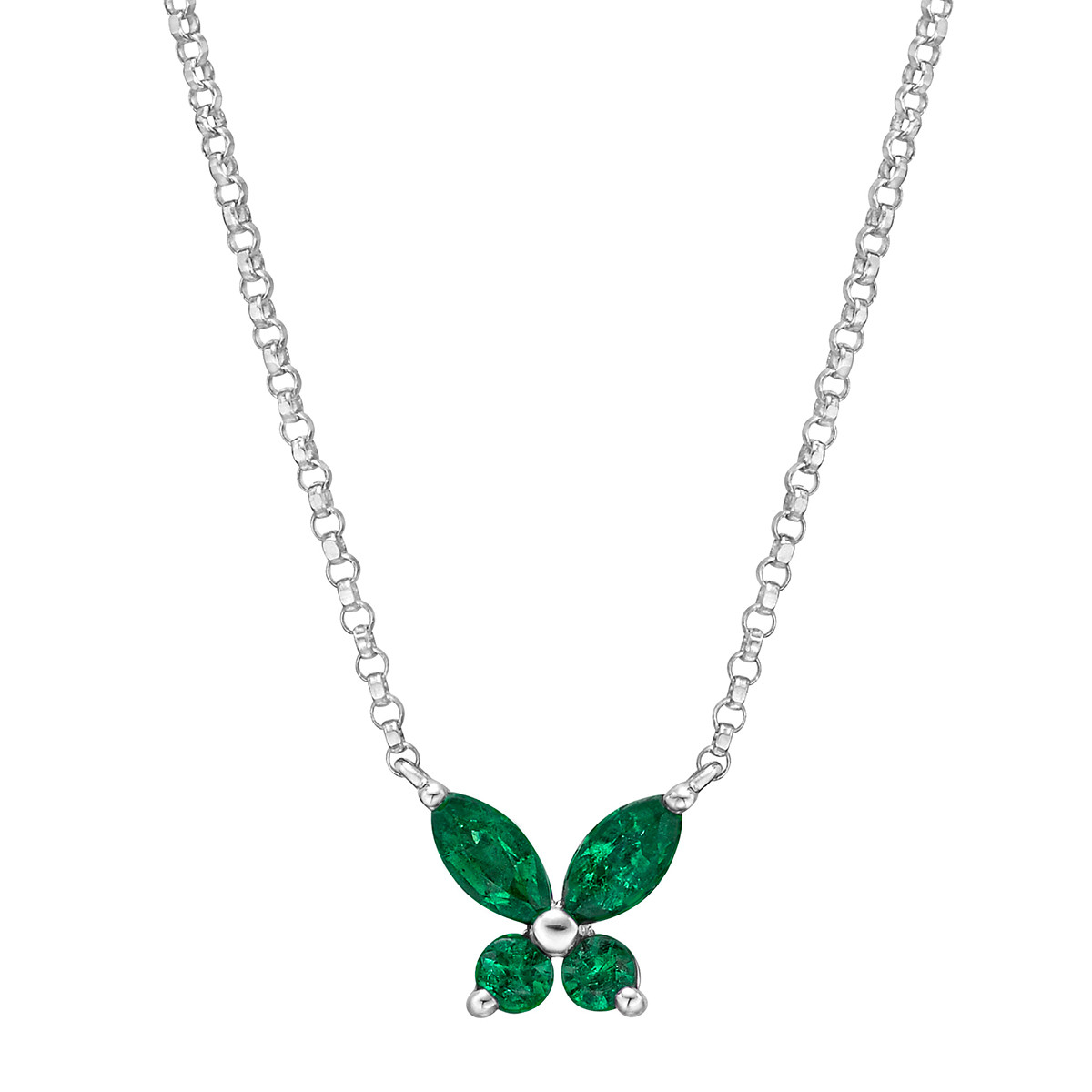 Small Emerald Butterfly Pendant
