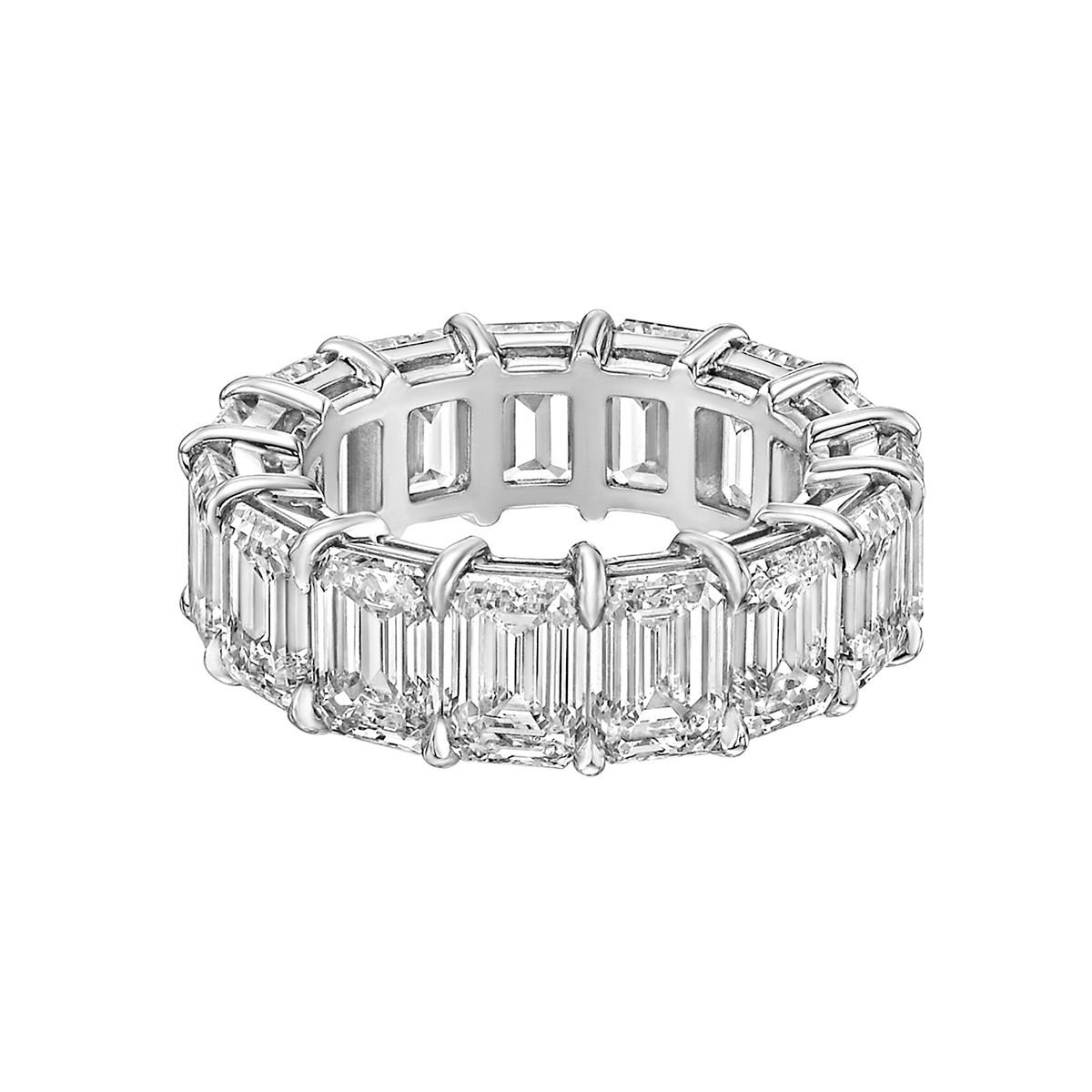 "Emerald-Cut Diamond ""Capella"" Eternity Band (10.69 ct tw)"