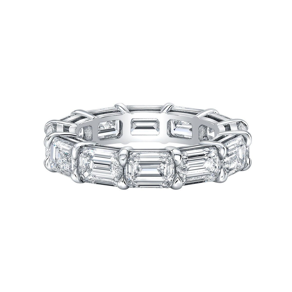 Emerald-Cut Diamond East-West Eternity Band (5.29tcw)
