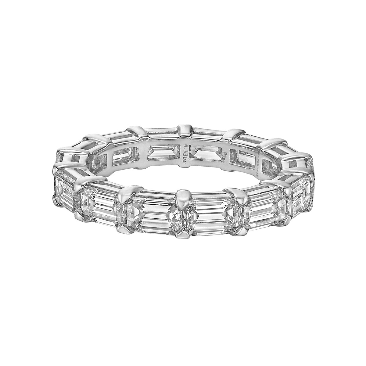Emerald-Cut Diamond East-West Eternity Band (4.33 ct tw)