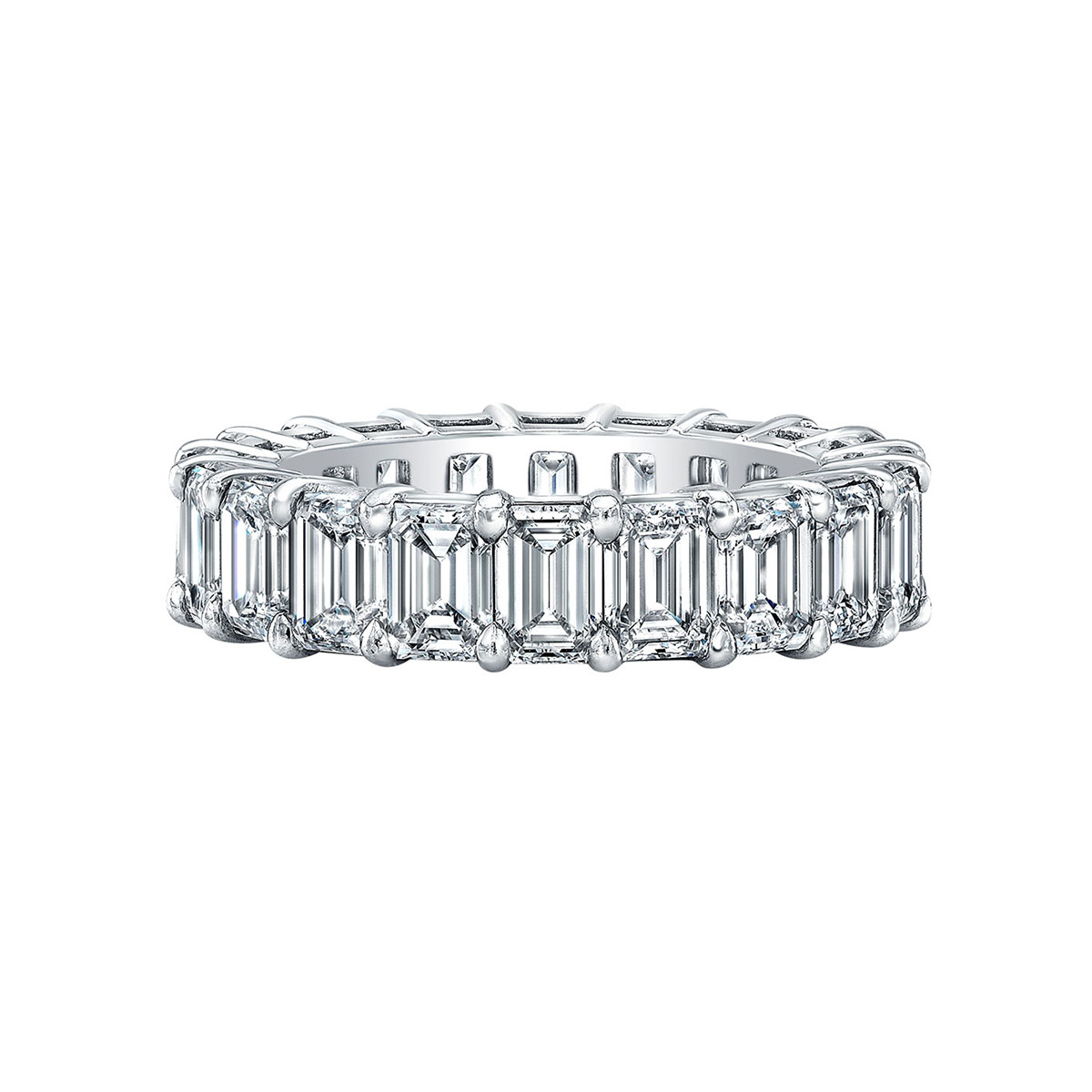 Emerald-Cut Diamond Eternity Band (6.73 ct tw)
