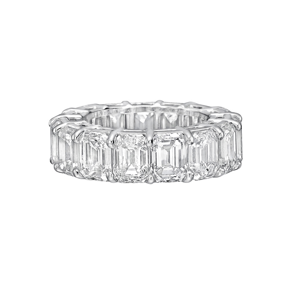Emerald-Cut Diamond Eternity Band (12.28tcw)