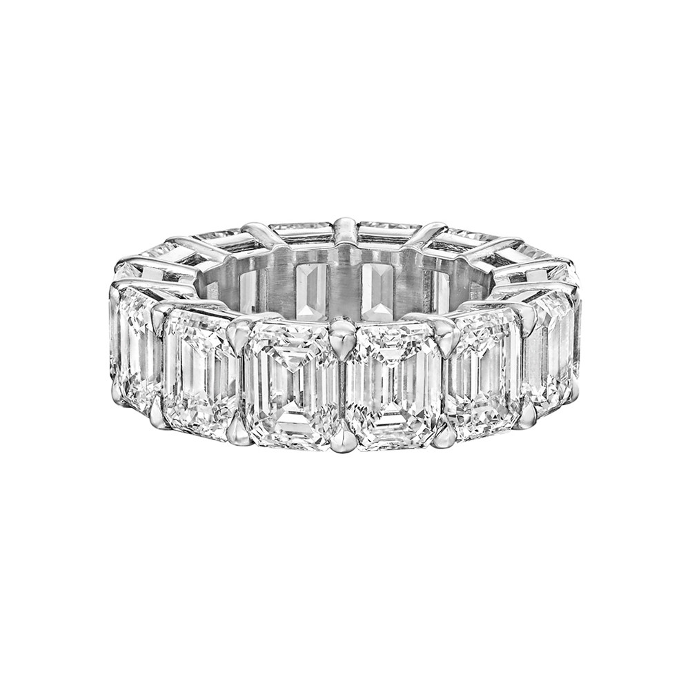 "Emerald-Cut Diamond ""Ara"" Eternity Band (13.89 ct tw)"