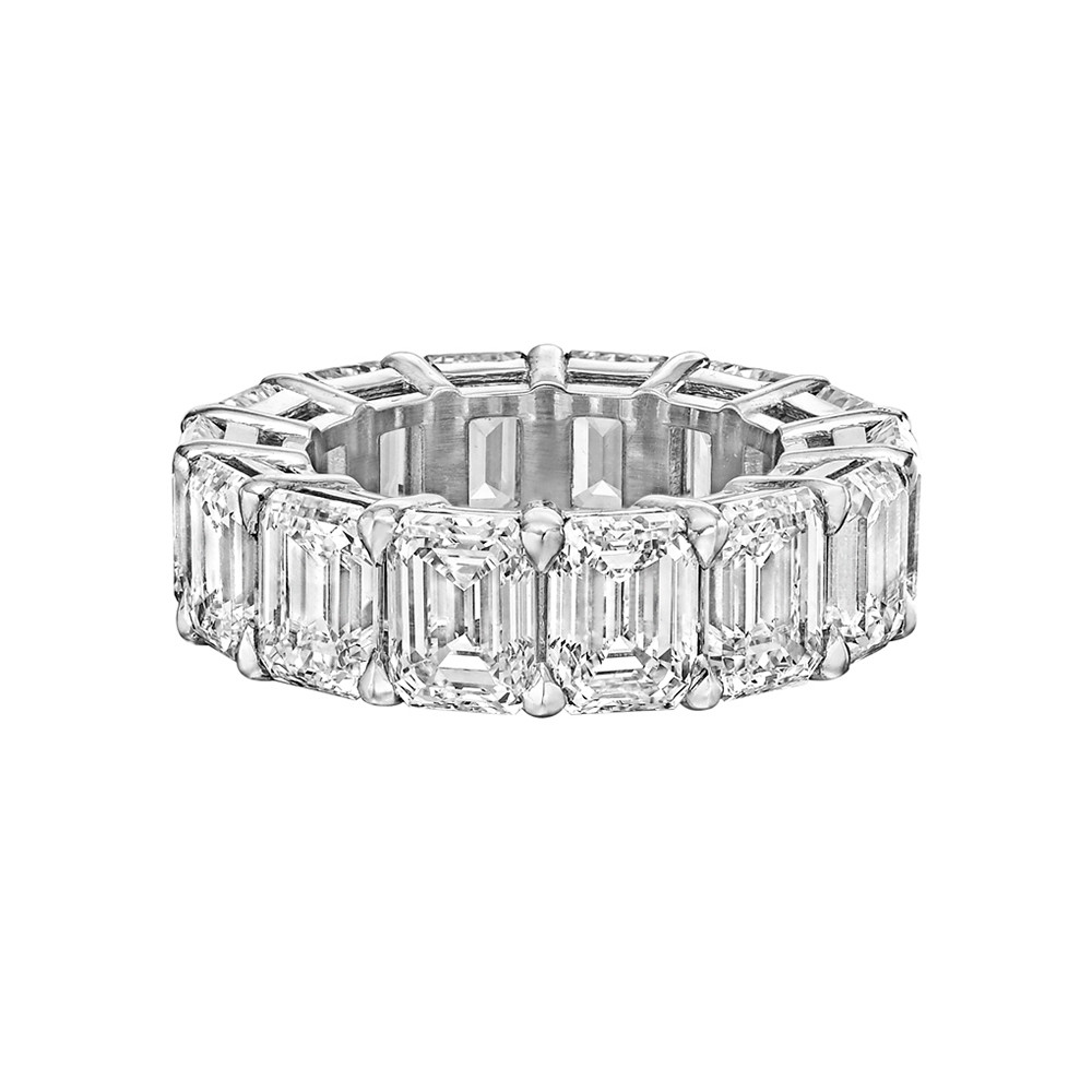 "Emerald-Cut Diamond ""Ara"" Eternity Band (14.07ct tw)"