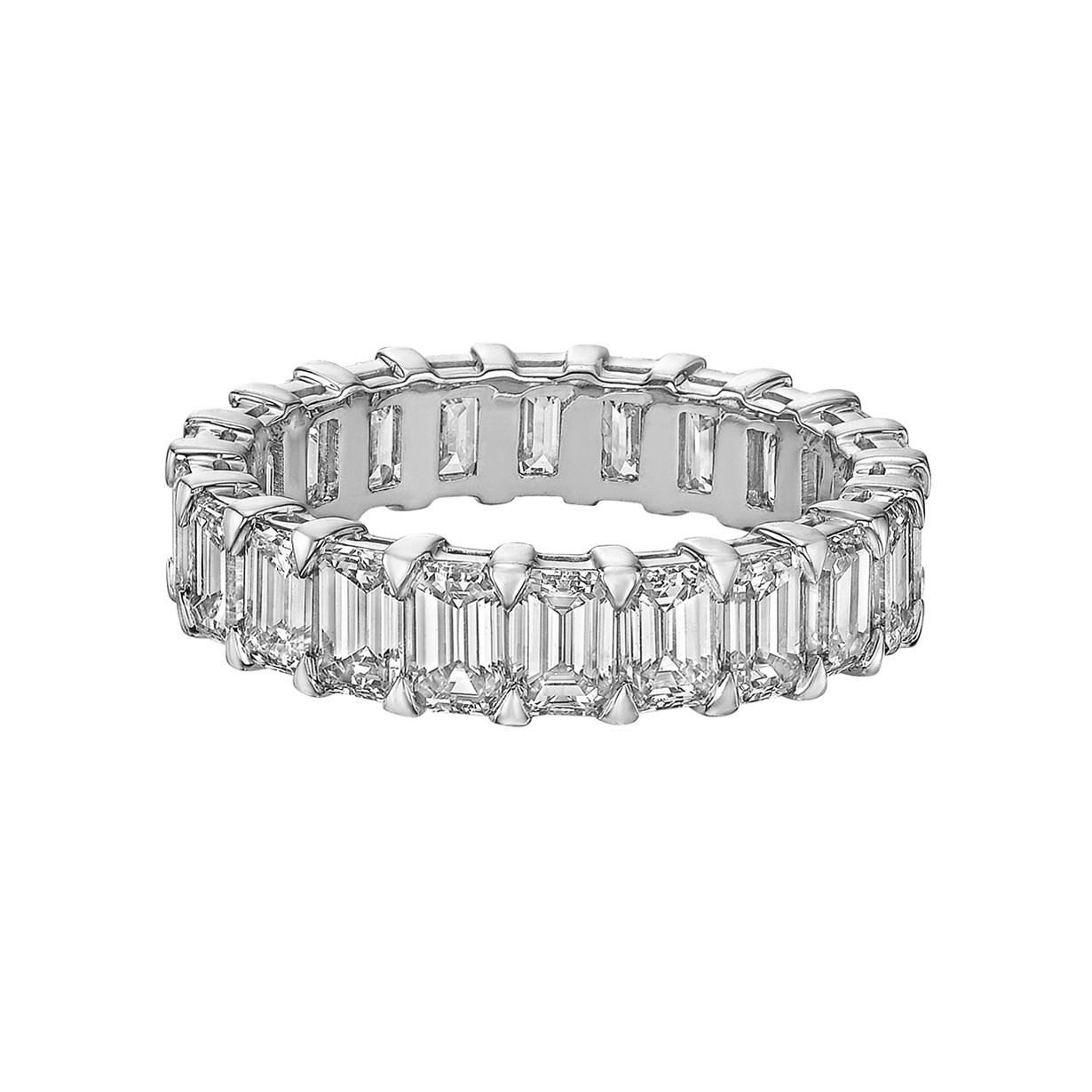 Emerald-Cut Diamond Eternity Band (4.78 ct tw)