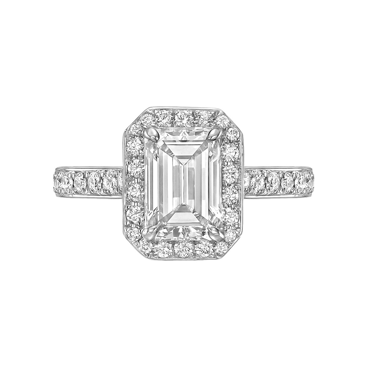 1.69 Carat Emerald-Cut Diamond Ring