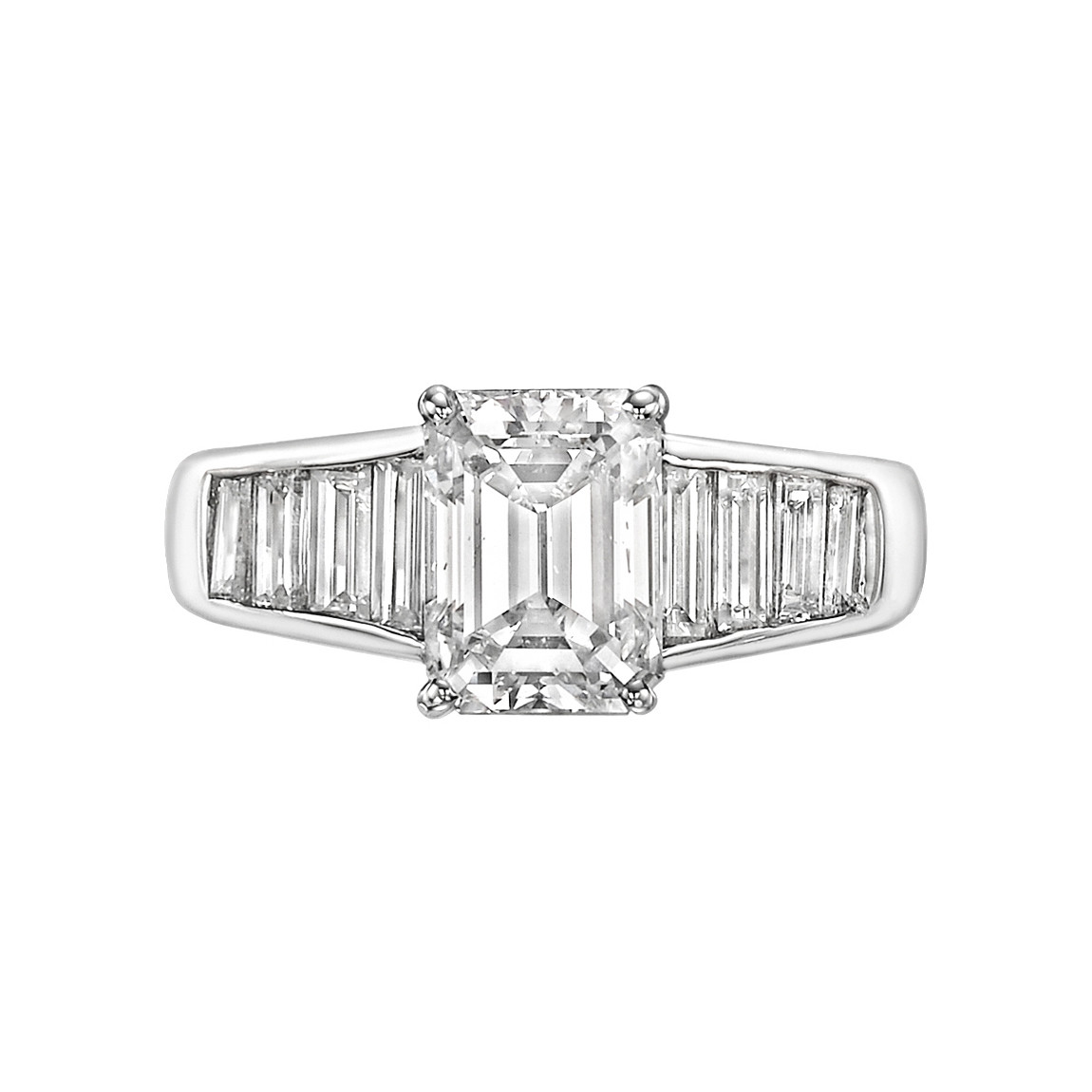 2.02 Carat Emerald-Cut Diamond Ring