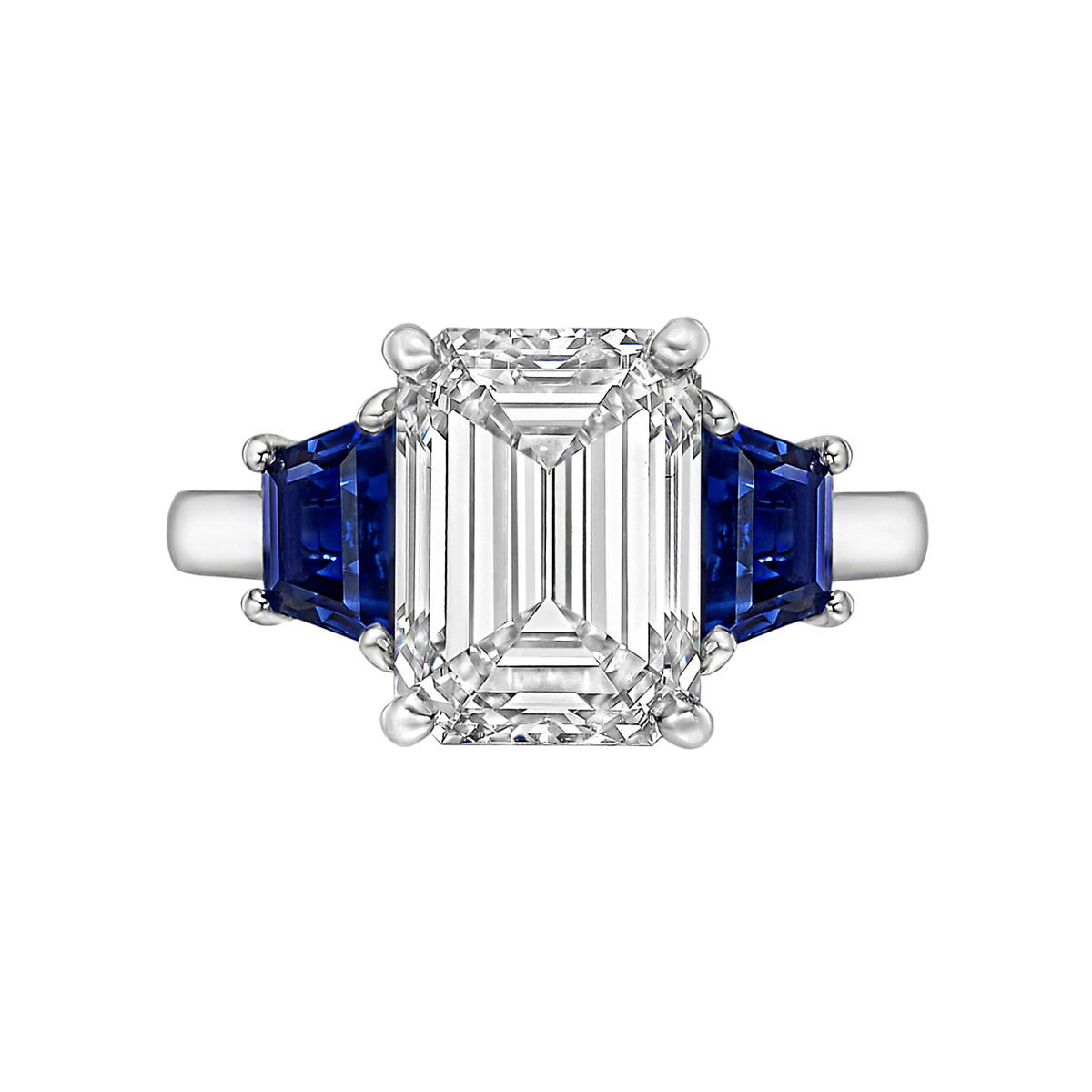 4.11ct Emerald-Cut Diamond Ring (F/VS2)