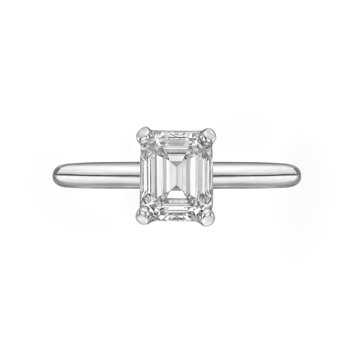 1.05 Carat Emerald-Cut Diamond Ring