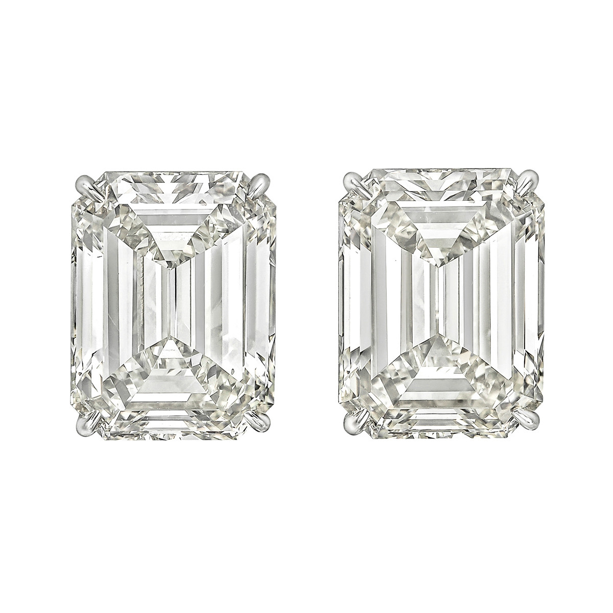 Emerald-Cut Diamond Stud Earrings (20.18 ct tw)