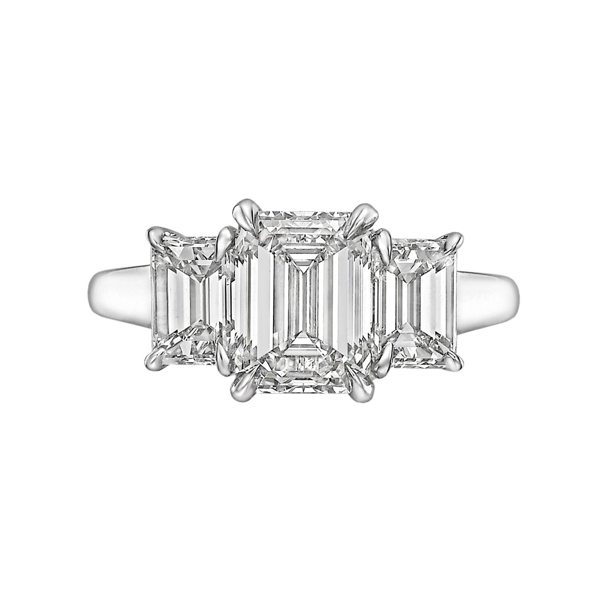 2.01ct Emerald-Cut Diamond Three-Stone Ring (G/IF)