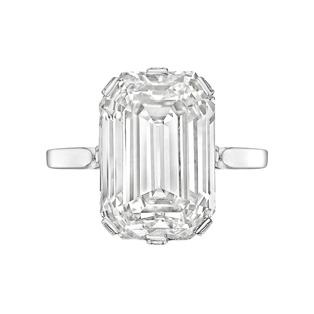 8.40 Carat Emerald-Cut Diamond Solitaire Ring
