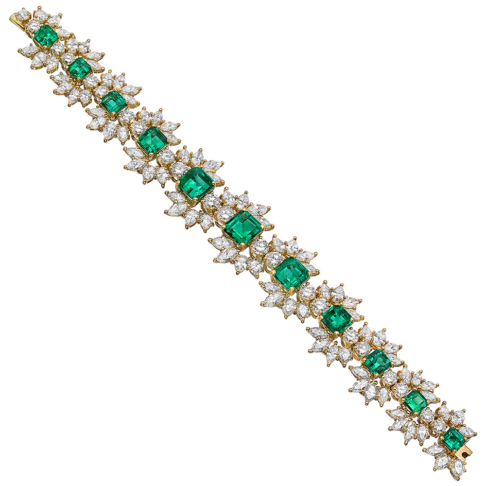 vintage emerald diamond bracelet betteridge