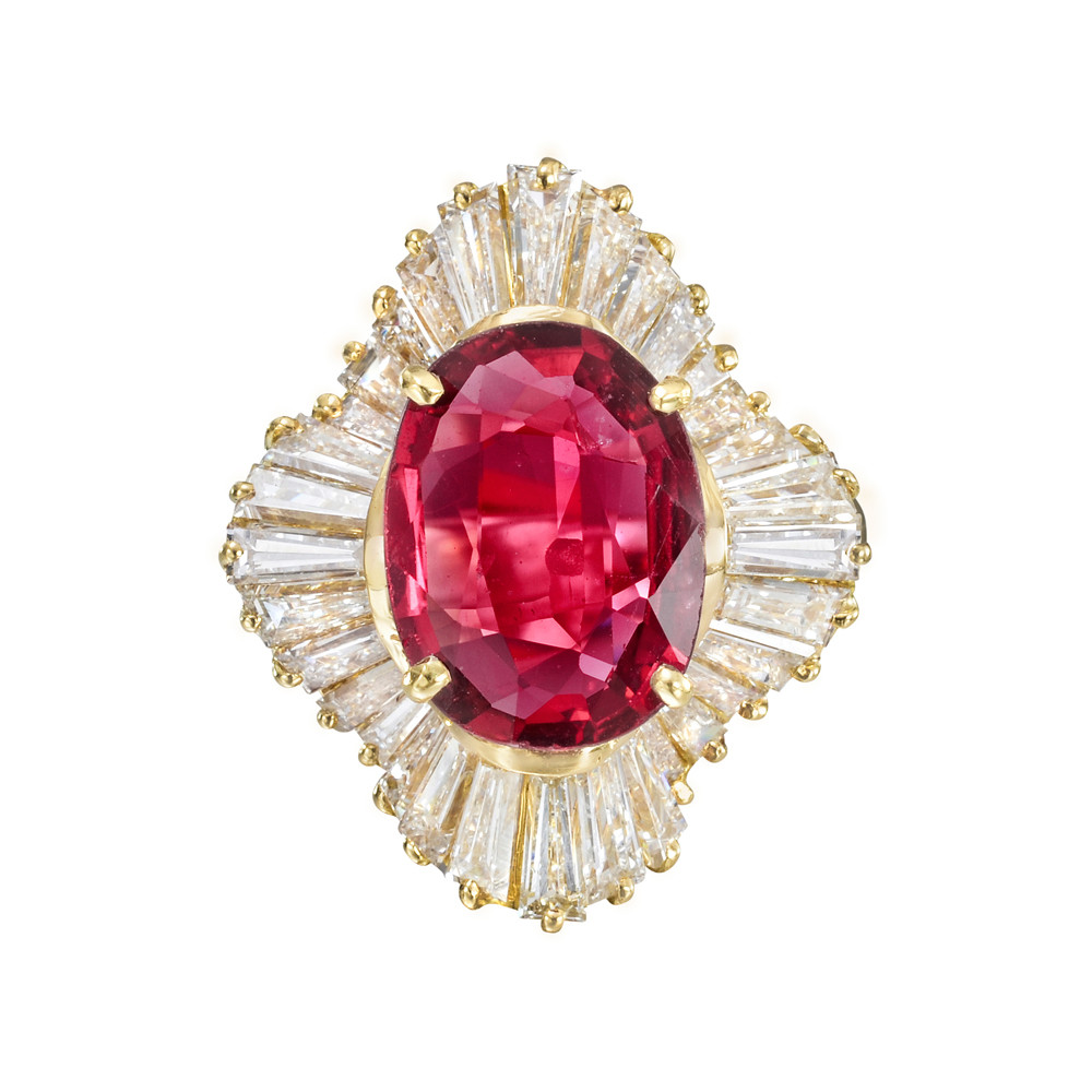 Vintage Ruby Engagement Rings Yellow Gold
